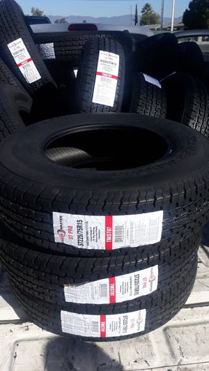 st225 75 r15 trailers tires 4pcs new 10ply $260 for Sale in Los Angeles, CA