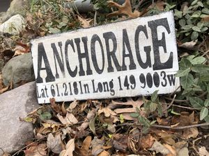 Anchorage Sign, New Handmade Sign, Longitude Sign, FarmHouse, Picture , Wedding Decor,Vintage,Unique, Bridal for Sale in Anchorage, AK