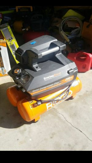 RIDGID 4.5 Gal. Portable Electric Quiet Air Compressor retail $339 for Sale in Garden Grove, CA