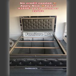 MATTRESS NOT INCLUDES 💥CAL KING BED FRAME NEW IN BOX $470💥DRESSER AND MIRROR $480💥NEW IN BOX READY FOR PICK UP OR DELIVERY AVAILABLE for Sale in Bellflower,  CA