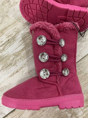 NEW Girls Kids Pink Shine Buttons Classic Boots. Size S (11/12) for Sale in FL, US