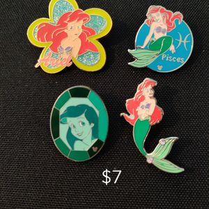 Disney Pin Lot Of 4 Little Mermaid for Sale in El Monte, CA