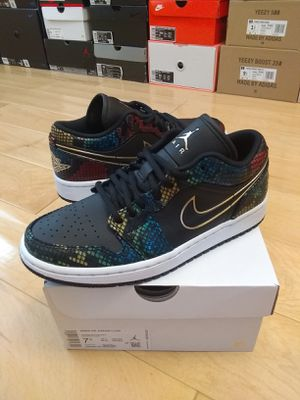Nike Jordan 1 Low Snakeskin Multicolor for Sale in Moreno Valley, CA