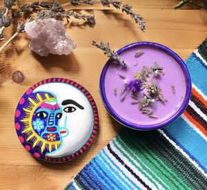 LAVENDER BOTANICAL SOY CANDLES, SUN & MOON TRINKET BOX, TALAVERA POTTERY @CELICREATIONZ for Sale in Upland, CA