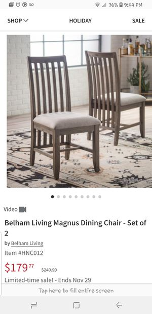 Set of 2 dining chairs for Sale in Blue Rock, OH