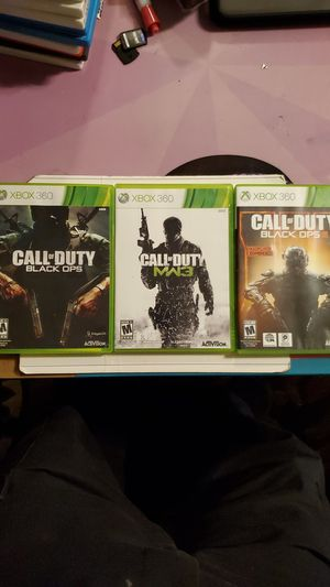 XBOX 360 Call of Duty (Black Ops, MW3, Black Ops III) for Sale in Plainfield, IL