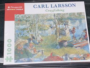Carl Larson crayfishing 1,000 piece puzzle for Sale in Los Angeles, CA