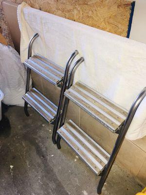 2 Teak Wood Stainless Steel Boat Ladders Retails New $580 for Sale in North Bergen, NJ