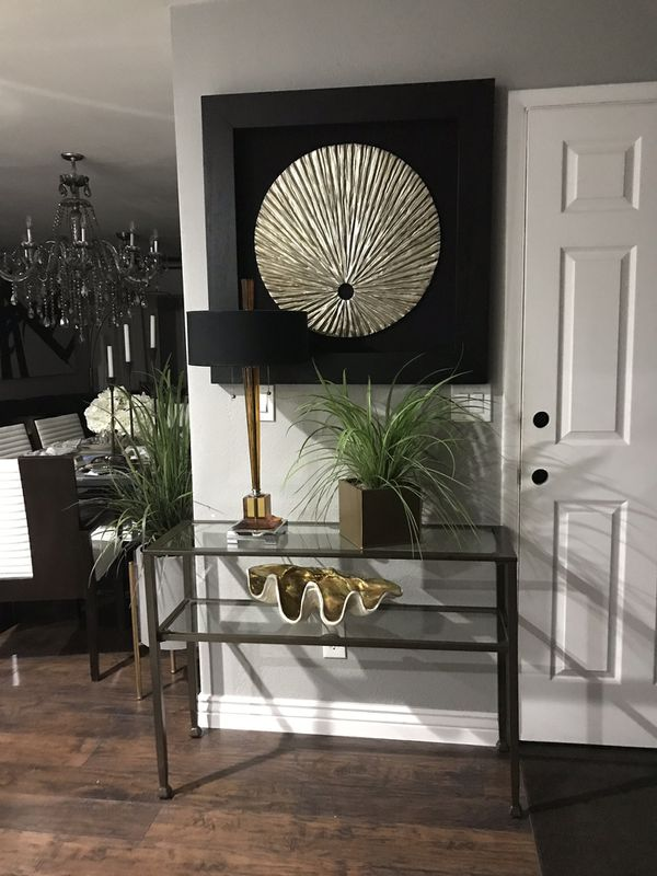 Crate and barrel sofa console table