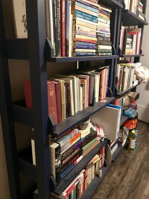 Wooden bookshelves 2 matching units used good condition for Sale in Los Angeles, CA