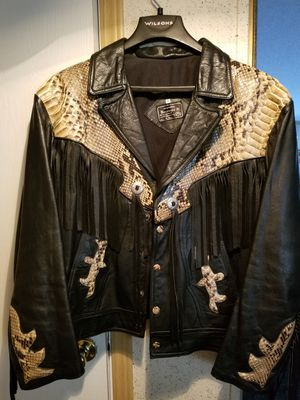 Authentic Python Skin Leather Jacket 100% Real Scales for Sale in Alvarado, TX