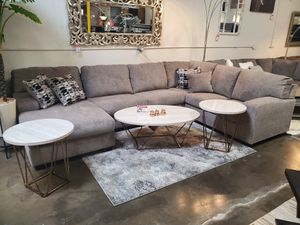 Sectional Sofa (Ottoman/Coffee Table is not included), Platinum for Sale in Huntington Beach, CA