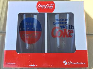 Coca-Cola Red, White & Blue Glass Set for Sale in Franklin, TN