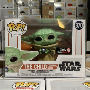 Funko Pop! Star Wars THE CHILD with CONTROL KNOB #370 GameStop EXCLUSIVE in PLASTIC POP PROTECTOR for Sale in Bloomington, CA