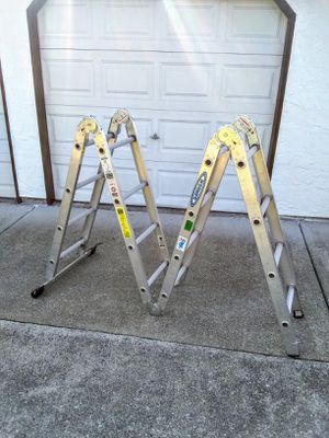 WERNER 16ft FOLDING LADDER - SCAFFOLD • LIKE NEW for Sale in SeaTac, WA