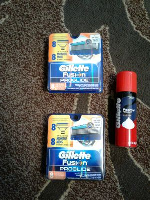 Gillette Fusion Proglide razor cartridges refills. Both 8pks for ($40 FIRM) for Sale in Everett, WA