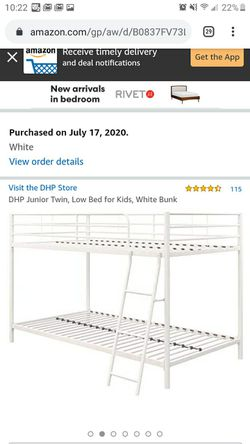 White bunk bed for Sale in St. Louis,  MO