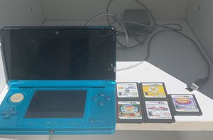 Nintendo 3DS with 6 games and charger for Sale in Columbia, PA