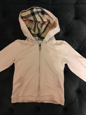 Burberry hoodie pique pink jacket 100% authentic size 3Y for Sale in Davie, FL