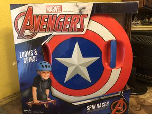 Marvel Captain America Spin Racer Caster Board Ride On for Sale in Manor, TX