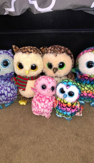 TY beanie boo owl stuffed animals for Sale in Vista, CA