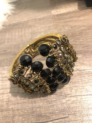 Bracelet with black jewels for Sale in Alexandria, VA
