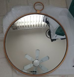 Bronze wall mirror (Lamps Plus) for Sale in San Bernardino, CA
