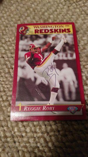 Signed 1994 Reggie Roby #1 card for Sale in Appomattox, VA