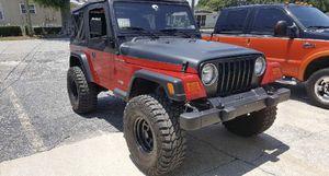2002 Jeep Wrangler 4 x 4 cold AC runs good for Sale in Winter Haven, FL