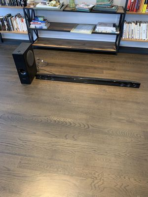 Sharp - 2.1-Channel Soundbar with Wireless Subwoofer - Black Model:HT-SB602 for Sale in New York, NY
