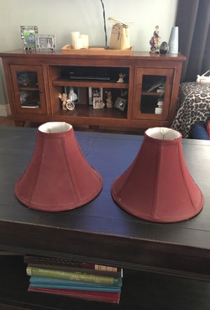 2 lamp shades burgundy $2 for both for Sale in Lemon Grove, CA