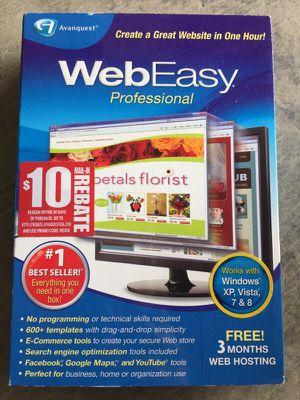 Web easy Professional for windows XP, Vista for Sale in Stockton, CA