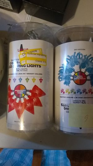 12 light battery operated LED string for Sale in Florissant, MO