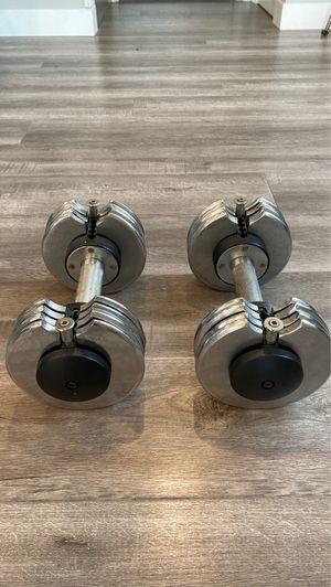 Reebok Adjustable Weight Dumbbells 50lbs Total for Sale in Hawthorne, CA