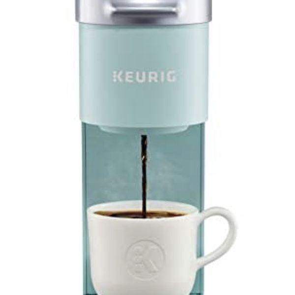 Keurig K-Mini Coffee Maker, Single Serve K-Cup Pod Coffee Brewer, 6 to 12 oz. Brew Sizes, Oasis