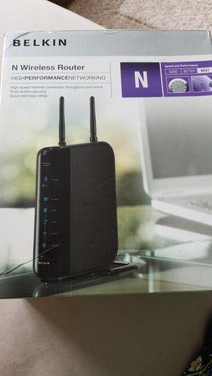 BELKIN N wireless router for Sale in Piscataway Township, NJ