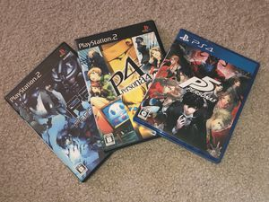 Persona 3 4 5 Japanese version collection Japan language PS3 PS4 for Sale in Kirkland, WA