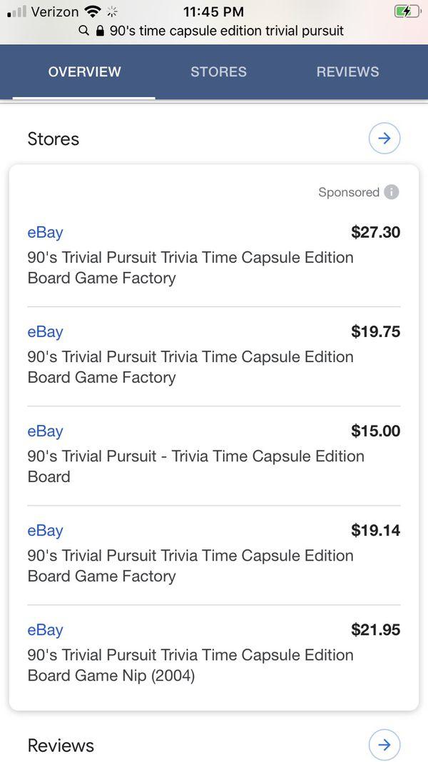 90's Trivial Pursuit