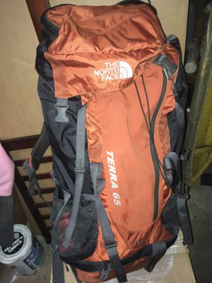 Northface Terra 65 Backpack ($125 New) used once for Sale in Onancock, VA