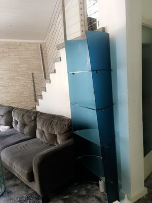 Handcrafted full glass shelving unit for Sale in Tampa, FL