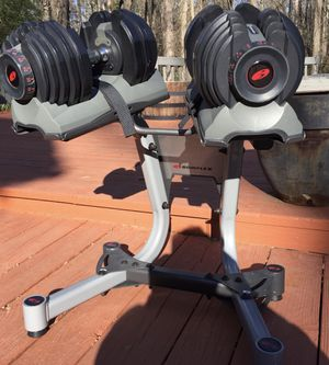 Bowflex SelectTech Dumbbells w/ STAND for Sale in North Potomac, MD