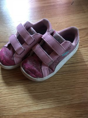 Kids pink glitter pumas 6c for Sale in Washington, DC