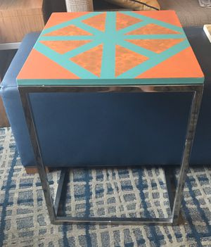 Upcycled Slide/End Table or Nightstand fine with Barnyard Quilt Design! for Sale in Boston, MA