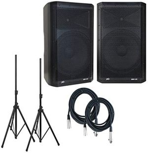 "Pair Peavey DM 115 Dark Matter Pro Audio Powered 15"" Speaker w/ pair Stands & Cables. for Sale in Orlando, FL"