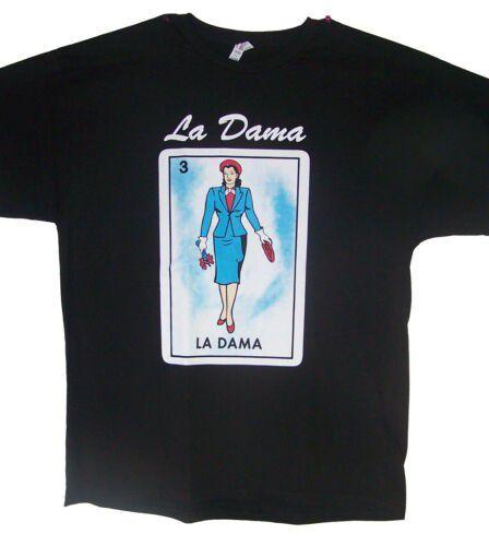 LA DAMA Loteria T-Shirts Lottery T-Shirts Mexican T-Shirts (MxTs314 Z )