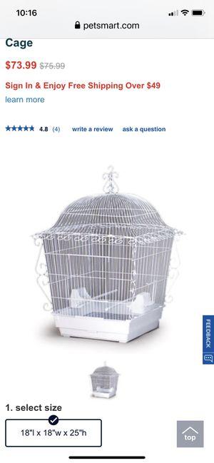 Bird cage white wire new (pervue hendrix -brand) for Sale in Franklin, TN