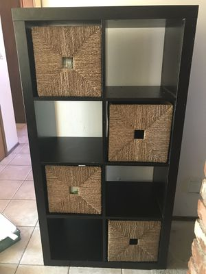 IKEA bookshelves with 4 foldable baskets for Sale in Spring Valley, CA