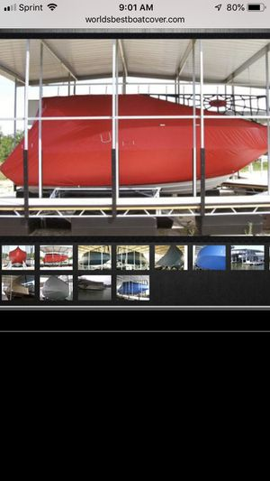 310 tan Sea Ray Sundecker marine concepts boat cover for Sale in Sunrise Beach, MO