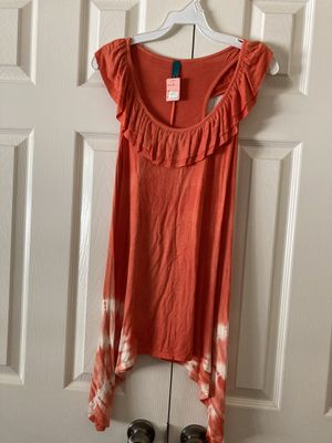 New women's top, gorgeous orange cream color for Sale in Temecula, CA