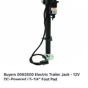 "Buyers 0093500 Electric Trailer Jack - 12V DC-Powered / 5-1/4"" Foot Pad for Sale in Stockton, CA"